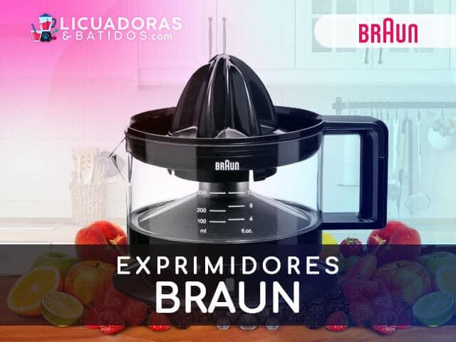 mejores máquinas para exprimir braun