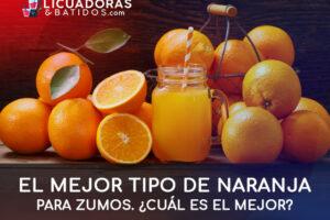 ¿Cuál es el mejor tipo de naranja para zumos?