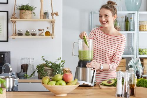 Licuadora de acero inoxidable para frutas y verduras
